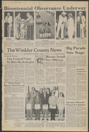 Primary view of object titled 'The Winkler County News (Kermit, Tex.), Vol. 39, No. 31, Ed. 1 Thursday, July 3, 1975'.