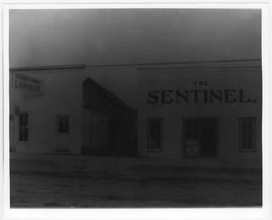 Primary view of object titled '[The Sentinel Newspaper Building]'.