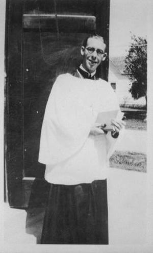 [Young priest or an altar server (acolyte)]