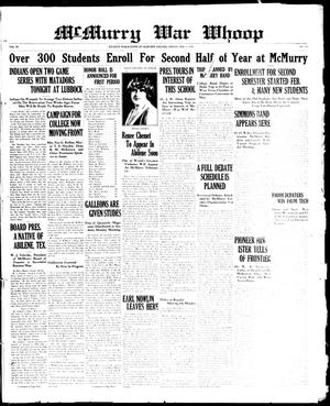 McMurry War Whoop (Abilene, Tex.), Vol. 6, No. 19, Ed. 1, Friday, February 8, 1929