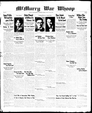 McMurry War Whoop (Abilene, Tex.), Vol. 6, No. 21, Ed. 1, Friday, February 22, 1929