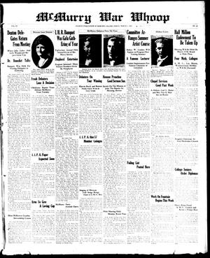McMurry War Whoop (Abilene, Tex.), Vol. 6, No. 22, Ed. 1, Friday, March 1, 1929