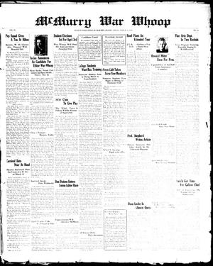 McMurry War Whoop (Abilene, Tex.), Vol. 6, No. 24, Ed. 1, Friday, March 15, 1929