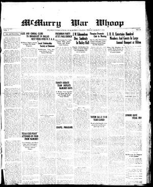 McMurry War Whoop (Abilene, Tex.), Vol. 7, No. 24, Ed. 1, Friday, March 7, 1930