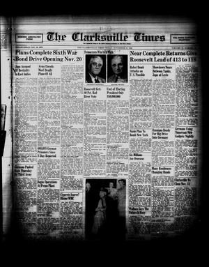 Primary view of object titled 'The Clarksville Times (Clarksville, Tex.), Vol. 72, No. 39, Ed. 1 Friday, November 10, 1944'.