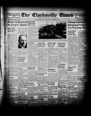 Primary view of object titled 'The Clarksville Times (Clarksville, Tex.), Vol. 72, No. 39, Ed. 1 Friday, November 3, 1944'.