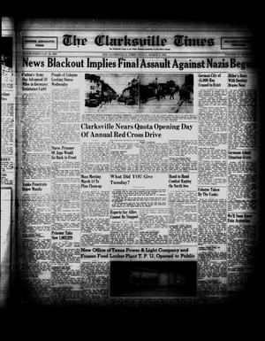 Primary view of object titled 'The Clarksville Times (Clarksville, Tex.), Vol. 73, No. 8, Ed. 1 Friday, March 9, 1945'.