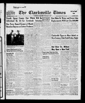 Primary view of object titled 'The Clarksville Times (Clarksville, Tex.), Vol. 87, No. 35, Ed. 1 Friday, September 18, 1959'.