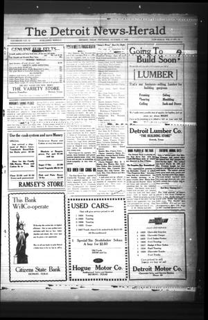 Primary view of object titled 'The Detroit News-Herald (Detroit, Tex.), Vol. 2, No. 29, Ed. 1 Thursday, October 17, 1929'.