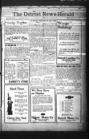 Primary view of object titled 'The Detroit News-Herald (Detroit, Tex.), Vol. 2, No. 30, Ed. 1 Thursday, October 24, 1929'.