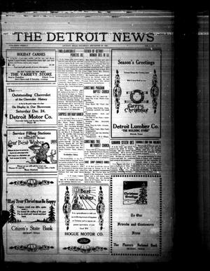 Primary view of object titled 'The Detroit News (Detroit, Tex.), Vol. 1, No. 38, Ed. 1 Thursday, December 20, 1928'.