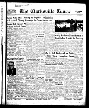 Primary view of object titled 'The Clarksville Times (Clarksville, Tex.), Vol. 86, No. 6, Ed. 1 Friday, February 28, 1958'.