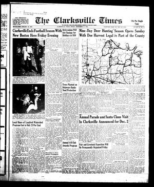 Primary view of object titled 'The Clarksville Times (Clarksville, Tex.), Vol. 86, No. 43, Ed. 1 Friday, November 14, 1958'.