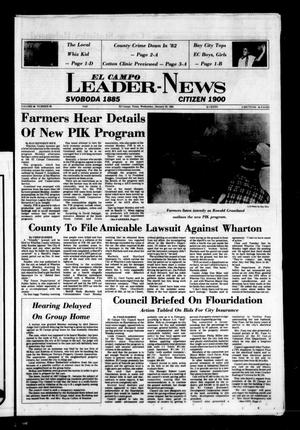 Primary view of object titled 'El Campo Leader-News (El Campo, Tex.), Vol. 98, No. 88, Ed. 1 Wednesday, January 26, 1983'.