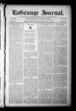 Primary view of object titled 'La Grange Journal. (La Grange, Tex.), Vol. 40, No. 43, Ed. 1 Thursday, October 23, 1919'.