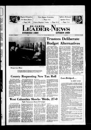 Primary view of object titled 'El Campo Leader-News (El Campo, Tex.), Vol. 98, No. 53, Ed. 1 Saturday, September 25, 1982'.