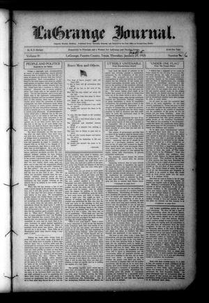 Primary view of object titled 'La Grange Journal. (La Grange, Tex.), Vol. 41, No. 6, Ed. 1 Thursday, February 5, 1920'.