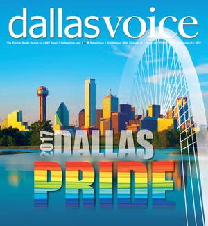 Primary view of object titled 'Dallas Voice (Dallas, Tex.), Vol. 34, No. 19, Ed. 1 Friday, September 15, 2017'.