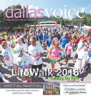 Primary view of Dallas Voice (Dallas, Tex.), Vol. 33, No. 22, Ed. 1 Friday, October 7, 2016