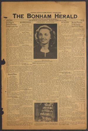 The Bonham Herald (Bonham, Tex.), Vol. 22, No. 59, Ed. 1 Monday, February 21, 1949