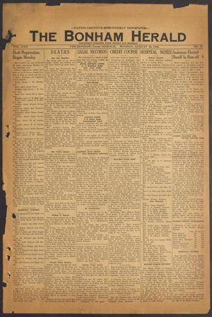 The Bonham Herald (Bonham, Tex.), Vol. 22, No. 10, Ed. 1 Monday, August 30, 1948