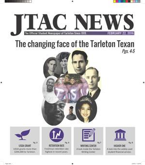 Primary view of object titled 'JTAC News (Stephenville, Tex.), Ed. 1 Monday, February 22, 2016'.