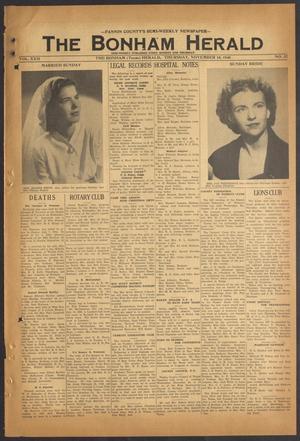 The Bonham Herald (Bonham, Tex.), Vol. 22, No. 32, Ed. 1 Thursday, November 18, 1948