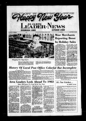 Primary view of object titled 'El Campo Leader-News (El Campo, Tex.), Vol. 98, No. 81, Ed. 1 Saturday, January 1, 1983'.