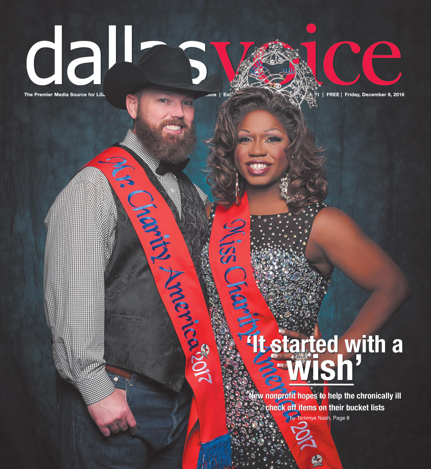 Dallas Voice (Dallas, Tex.), Vol. [33], No. 31, Ed. 1 Friday, December 9, 2016                                                                                                      [Sequence #]: 1 of 44