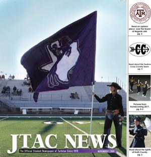 Primary view of object titled 'JTAC News (Stephenville, Tex.), Ed. 1 Wednesday, November 1, 2017'.