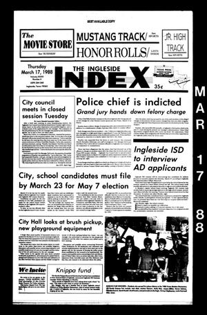 Primary view of object titled 'The Ingleside Index (Ingleside, Tex.), Vol. 39, No. 6, Ed. 1 Thursday, March 17, 1988'.