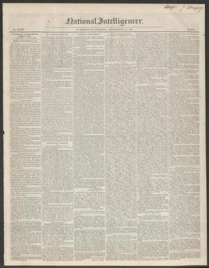 Primary view of National Intelligencer. (Washington [D.C.]), Vol. 48, No. 6979, Ed. 1 Tuesday, September 21, 1847