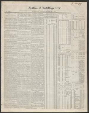 Primary view of National Intelligencer. (Washington [D.C.]), Vol. 48, No. 6982, Ed. 1 Tuesday, September 28, 1847