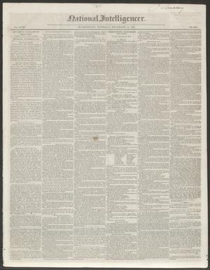Primary view of National Intelligencer. (Washington [D.C.]), Vol. 48, No. 7019, Ed. 1 Thursday, December 23, 1847