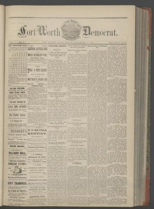 Primary view of object titled 'The Daily Fort Worth Democrat. (Fort Worth, Tex.), Vol. 1, No. 62, Ed. 1 Friday, September 15, 1876'.