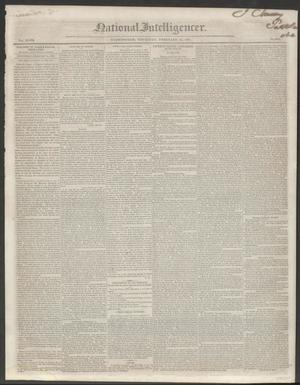 Primary view of National Intelligencer. (Washington [D.C.]), Vol. 48, No. 6893, Ed. 1 Thursday, February 25, 1847