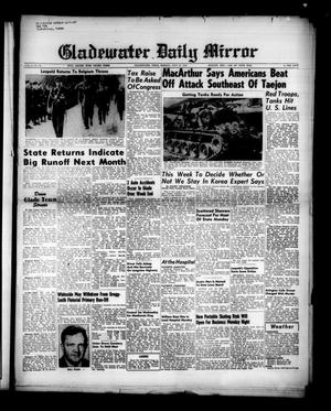 Primary view of Gladewater Daily Mirror (Gladewater, Tex.), Vol. 2, No. 108, Ed. 1 Monday, July 24, 1950