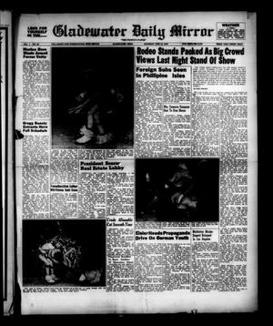 Primary view of object titled 'Gladewater Daily Mirror (Gladewater, Tex.), Vol. 1, No. 80, Ed. 1 Saturday, June 18, 1949'.
