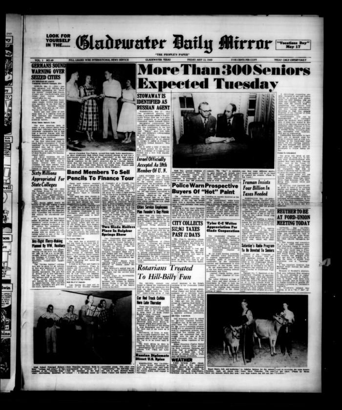 Gladewater Daily Mirror (Gladewater, Tex ), Vol  1, No  49