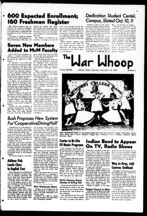 Primary view of object titled 'The War Whoop (Abilene, Tex.), Vol. 28, No. 1, Ed. 1, Saturday, September 16, 1950'.