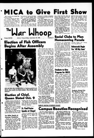 Primary view of object titled 'The War Whoop (Abilene, Tex.), Vol. 28, No. 3, Ed. 1, Friday, September 29, 1950'.