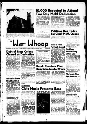 Primary view of object titled 'The War Whoop (Abilene, Tex.), Vol. 28, No. 4, Ed. 1, Friday, October 6, 1950'.