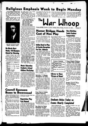 Primary view of object titled 'The War Whoop (Abilene, Tex.), Vol. 28, No. 9, Ed. 1, Friday, November 10, 1950'.