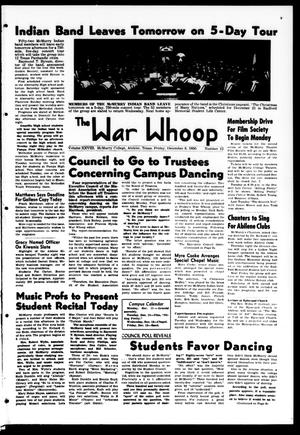 Primary view of object titled 'The War Whoop (Abilene, Tex.), Vol. 28, No. 12, Ed. 1, Friday, December 8, 1950'.