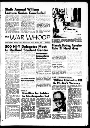 The War Whoop (Abilene, Tex.), Vol. 28, No. 21, Ed. 1, Friday, March 9, 1951