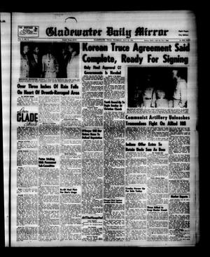 Primary view of object titled 'Gladewater Daily Mirror (Gladewater, Tex.), Vol. 5, No. 4, Ed. 1 Thursday, July 23, 1953'.