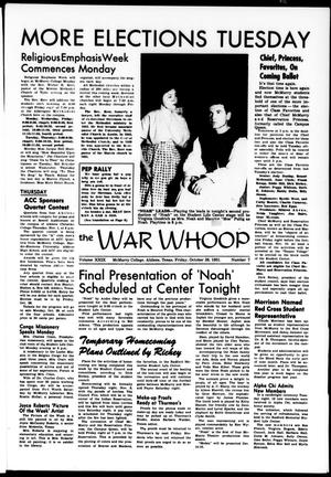The War Whoop (Abilene, Tex.), Vol. 29, No. 7, Ed. 1, Friday, October 26, 1951
