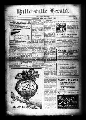 Primary view of object titled 'Halletsville Herald. (Hallettsville, Tex.), Vol. 40, No. 10, Ed. 1 Friday, June 9, 1911'.