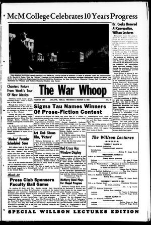 Primary view of object titled 'The War Whoop (Abilene, Tex.), Vol. 30, No. 20, Ed. 1, Thursday, March 12, 1953'.