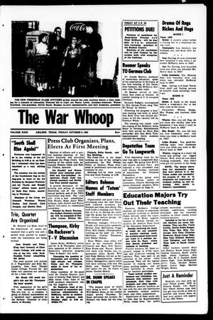 Primary view of object titled 'The War Whoop (Abilene, Tex.), Vol. 31, No. 4, Ed. 1, Friday, October 9, 1953'.